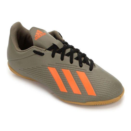 Chuteira Futsal Adidas X 19 4 IN - Verde+laranja
