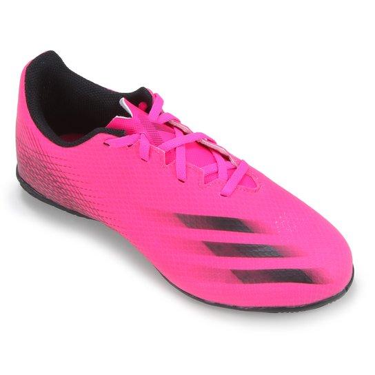 Chuteira Futsal Adidas X Ghosted 20 4 - Rosa+Branco