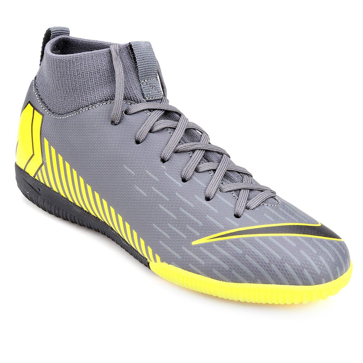 fdc816f497e Chuteira Futsal Infantil Nike Superfly 6 Academy Gs IC - Cinza - Compre  Agora