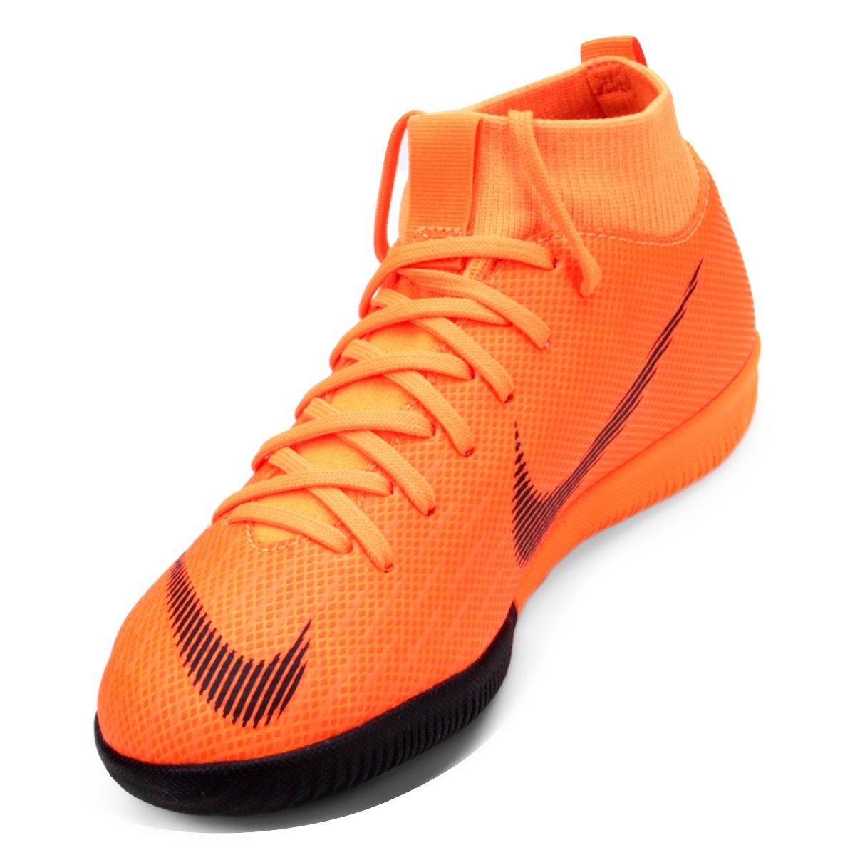 Chuteira Futsal Infantil Nike Mercurial Superfly 6 Academy - Laranja ... 9276b2554ea88