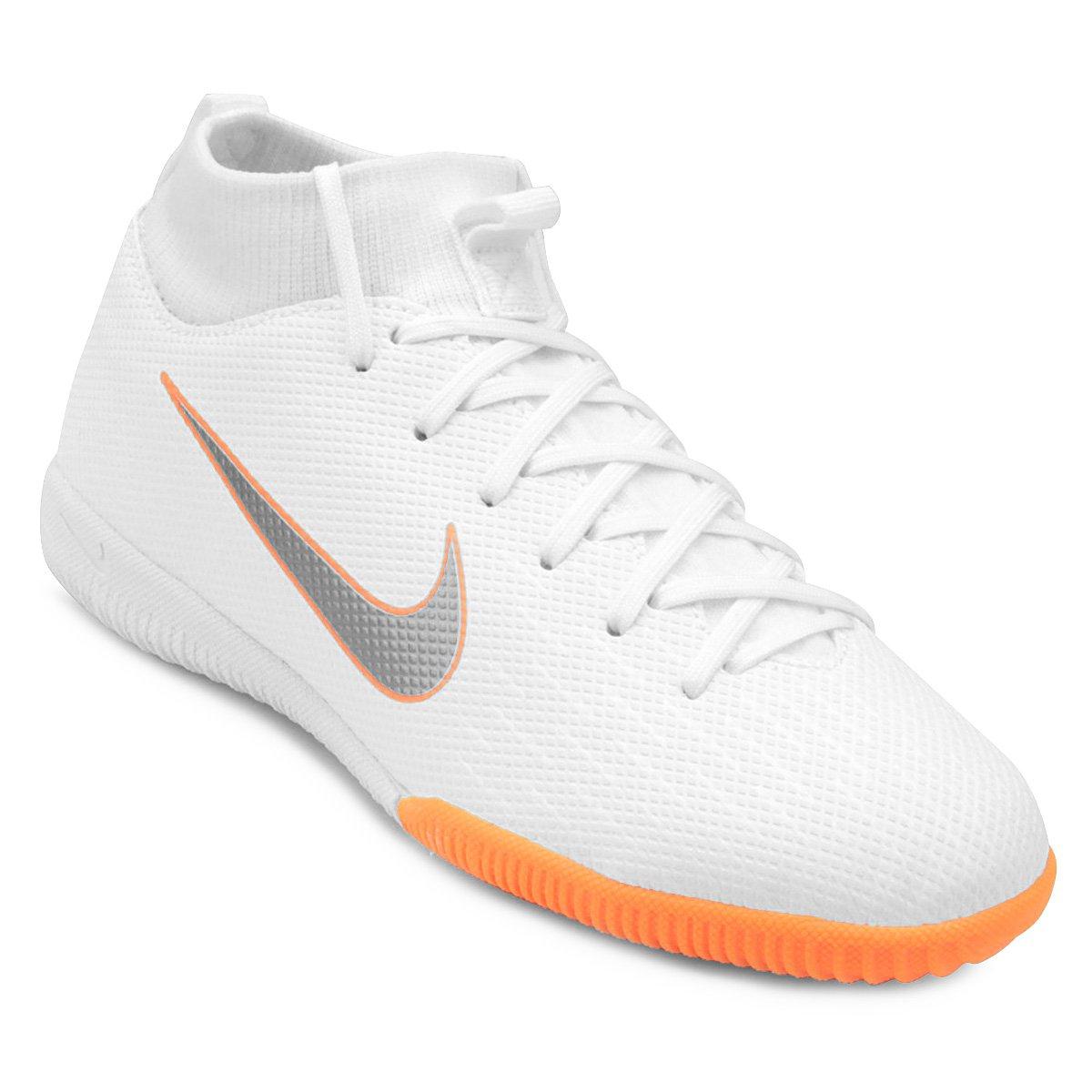 670cc064eb Chuteira Futsal Infantil Nike Mercurial Superfly 6 Academy - Branco ...
