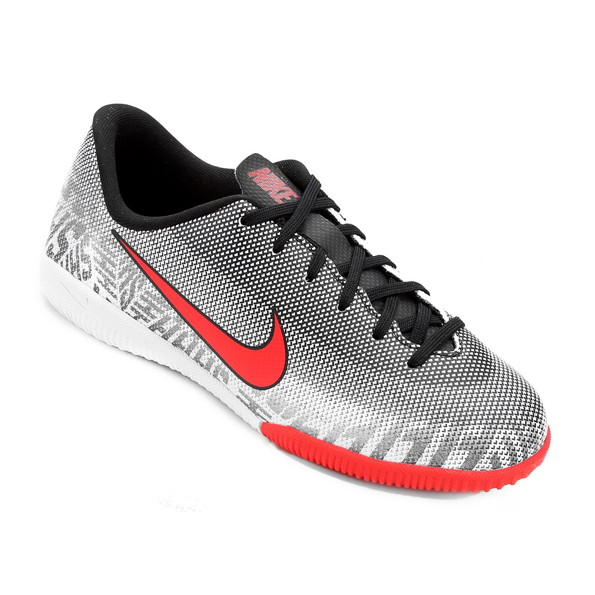 e77ae47ce1 Chuteira Futsal Infantil Nike Mercurial Vapor 12 Academy Gs Neymar Jr IC -  Branco e Vermelho