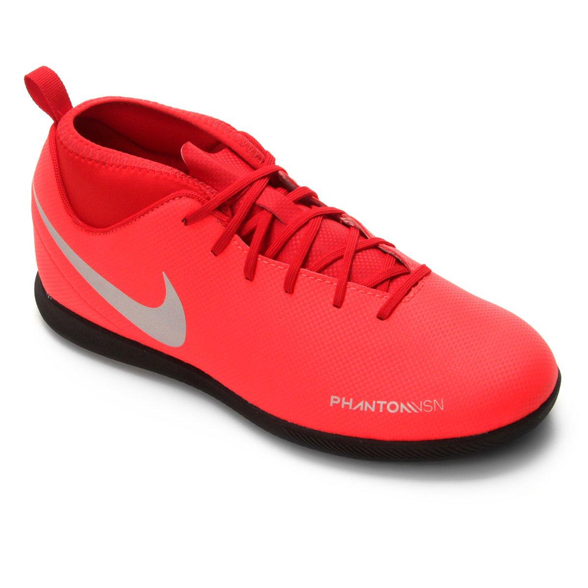 Chuteira Futsal Infantil Nike Phantom Vision Club DF IC - Vermelho e ... 61c3ad7a3c6c4