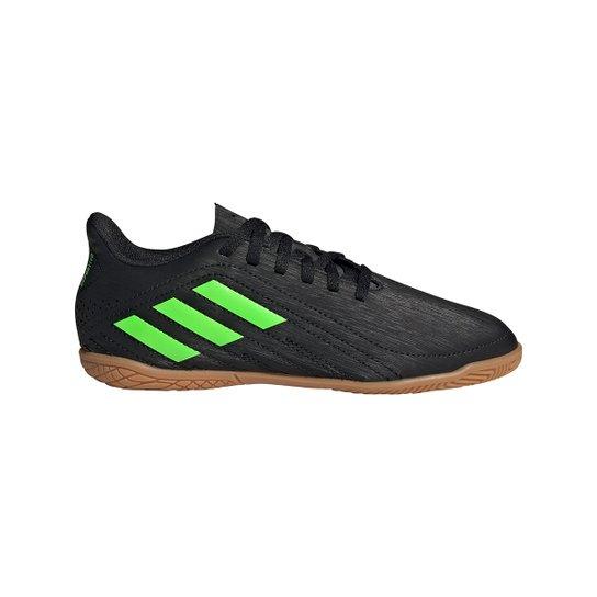Chuteira Futsal Juvenil Adidas Deportivo - Preto+verde
