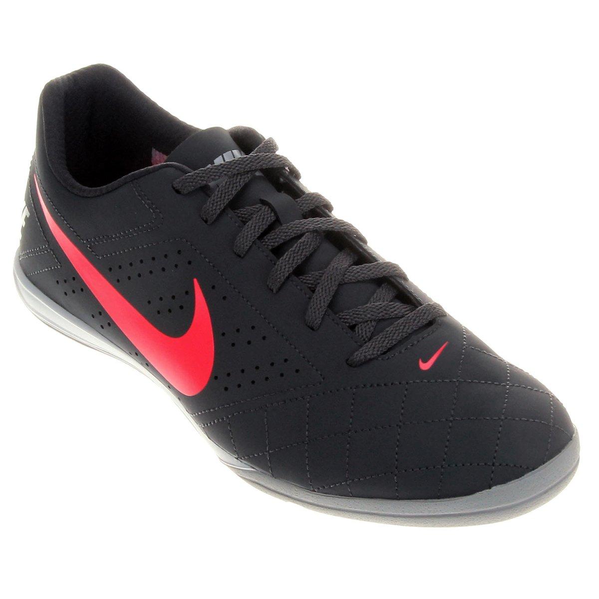 b9a768cfe1 Chuteira Futsal Nike Beco 2 Futsal - Chumbo e Rosa - Compre Agora ...