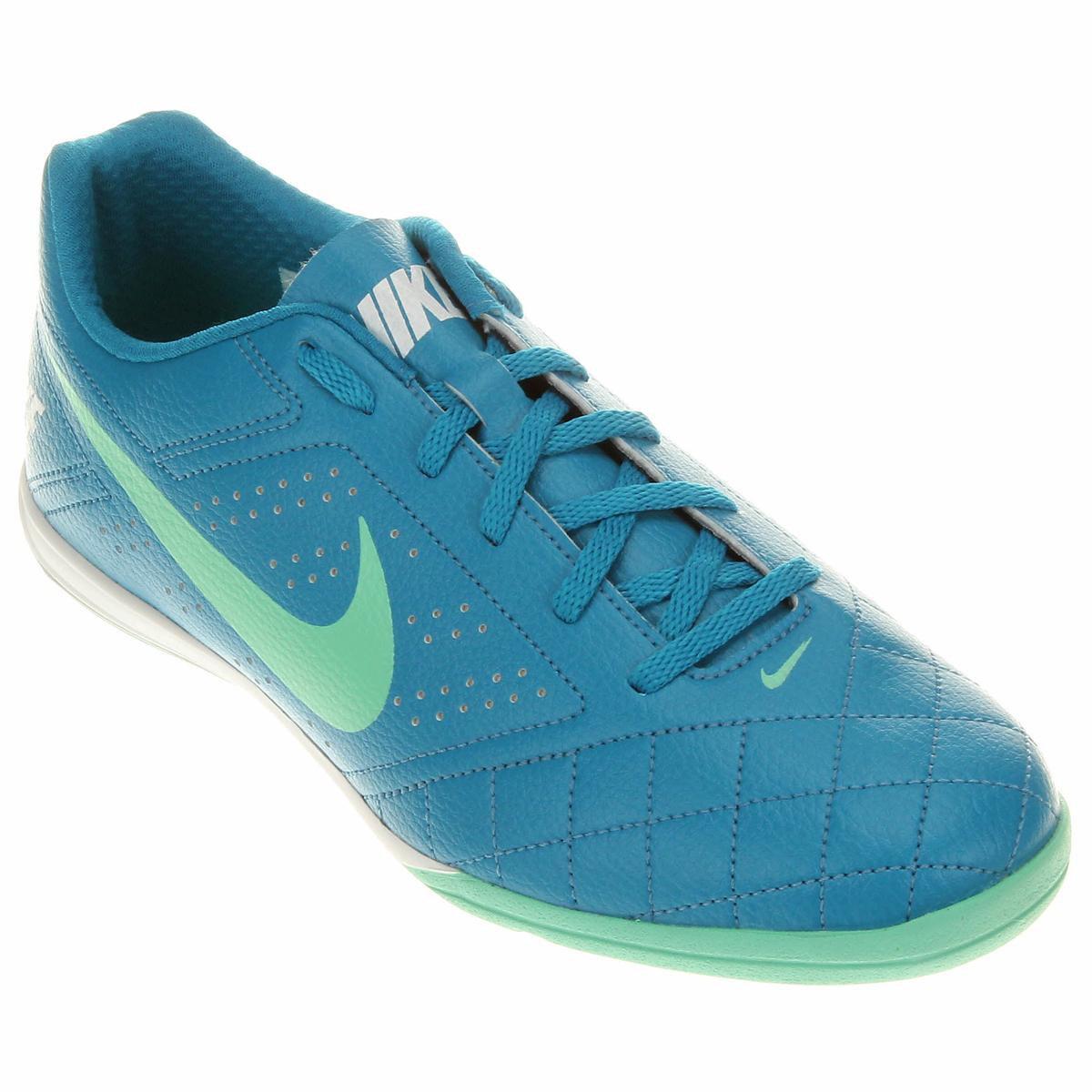 e52509e250 Chuteira Futsal Nike Beco 2 Futsal - Azul e Verde Água - Compre ...