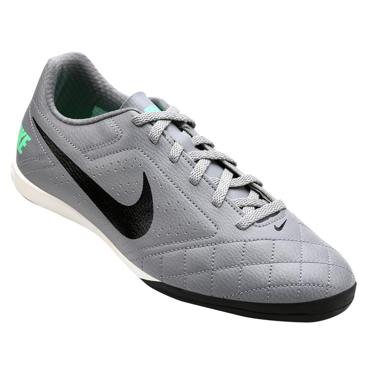cc8dd33f42 Chuteira Futsal Nike Beco 2 Futsal - Chumbo e Cinza