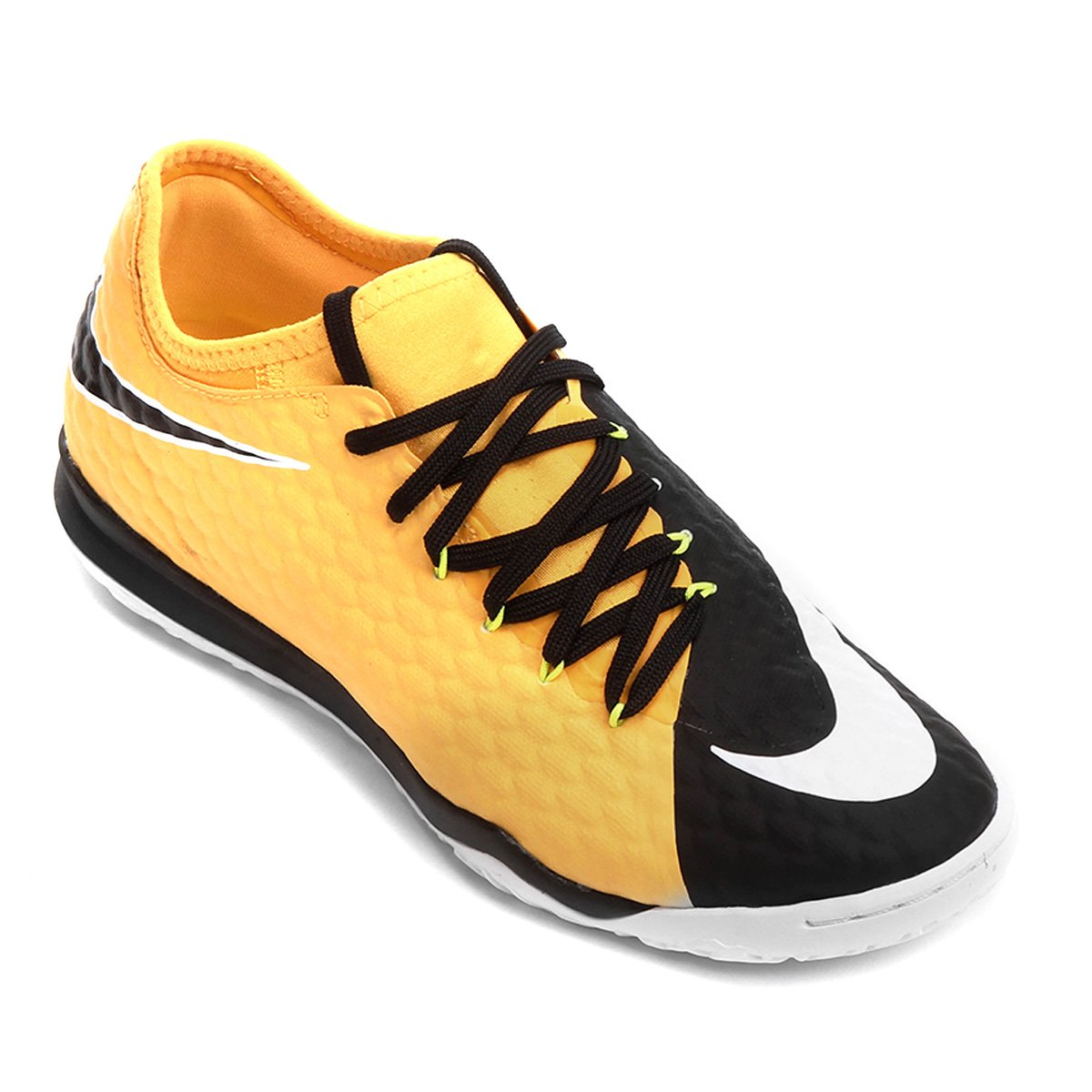 Chuteira Futsal Nike Hypervenom Finale 2 IC - Laranja e Preto ... a852357f007d2