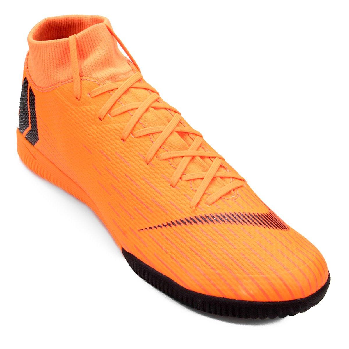 50bddf2c22 Chuteira Futsal Nike Mercurial Superfly 6 Academy - Laranja e Preto -  Compre Agora