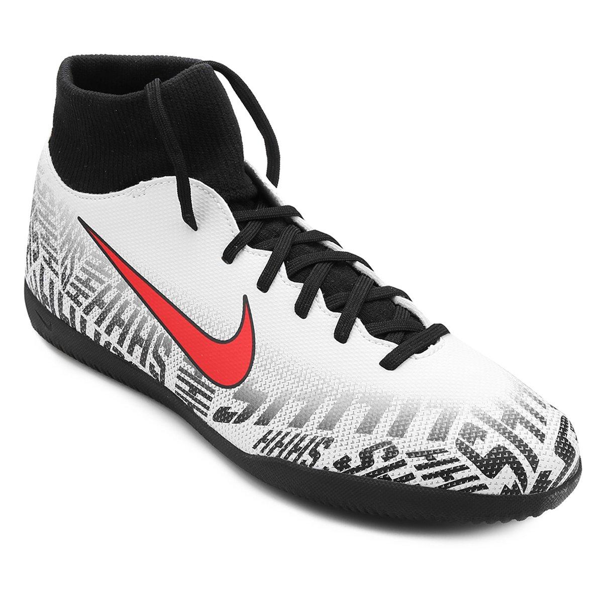 494819aa3ca68 Chuteira Futsal Nike Mercurial Superfly 6 Club Neymar Jr IC - Branco e  Vermelho - Compre Agora