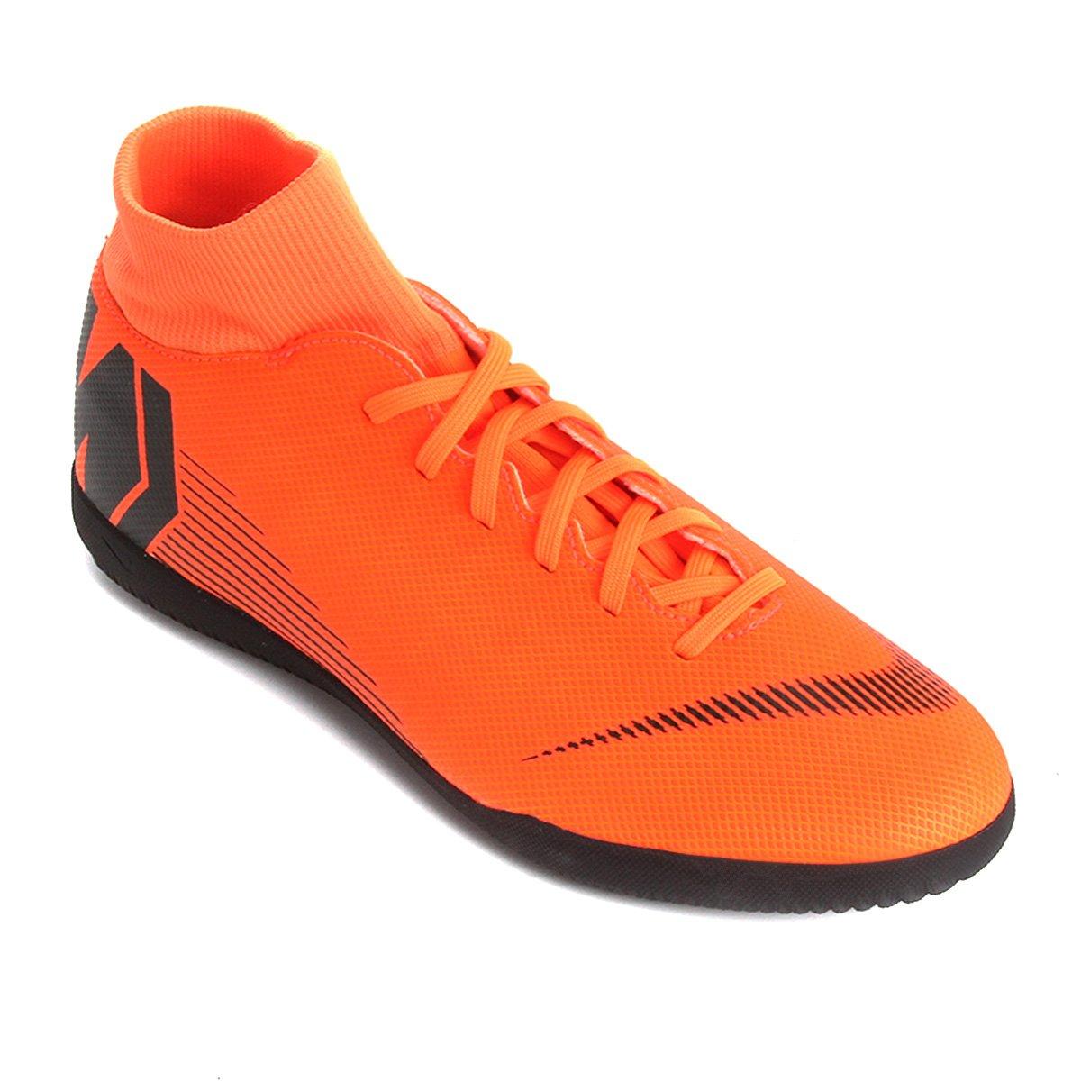 16f8d916d1 Chuteira Futsal Nike Mercurial Superfly 6 Club - Laranja e Preto ...