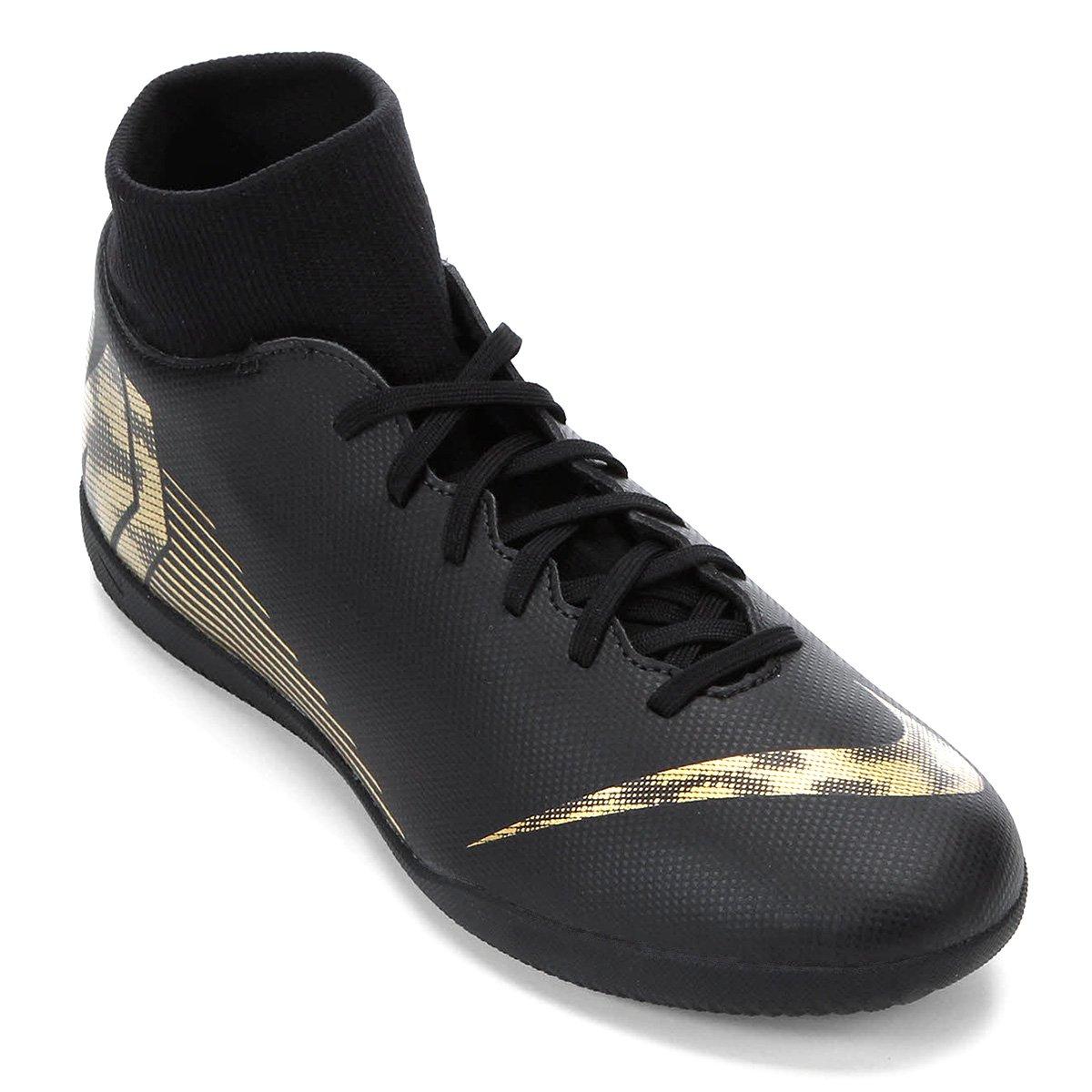 0ca4e02de4cc7 Chuteira Futsal Nike Mercurial Superfly 6 Club - Preto e Dourado - Compre  Agora