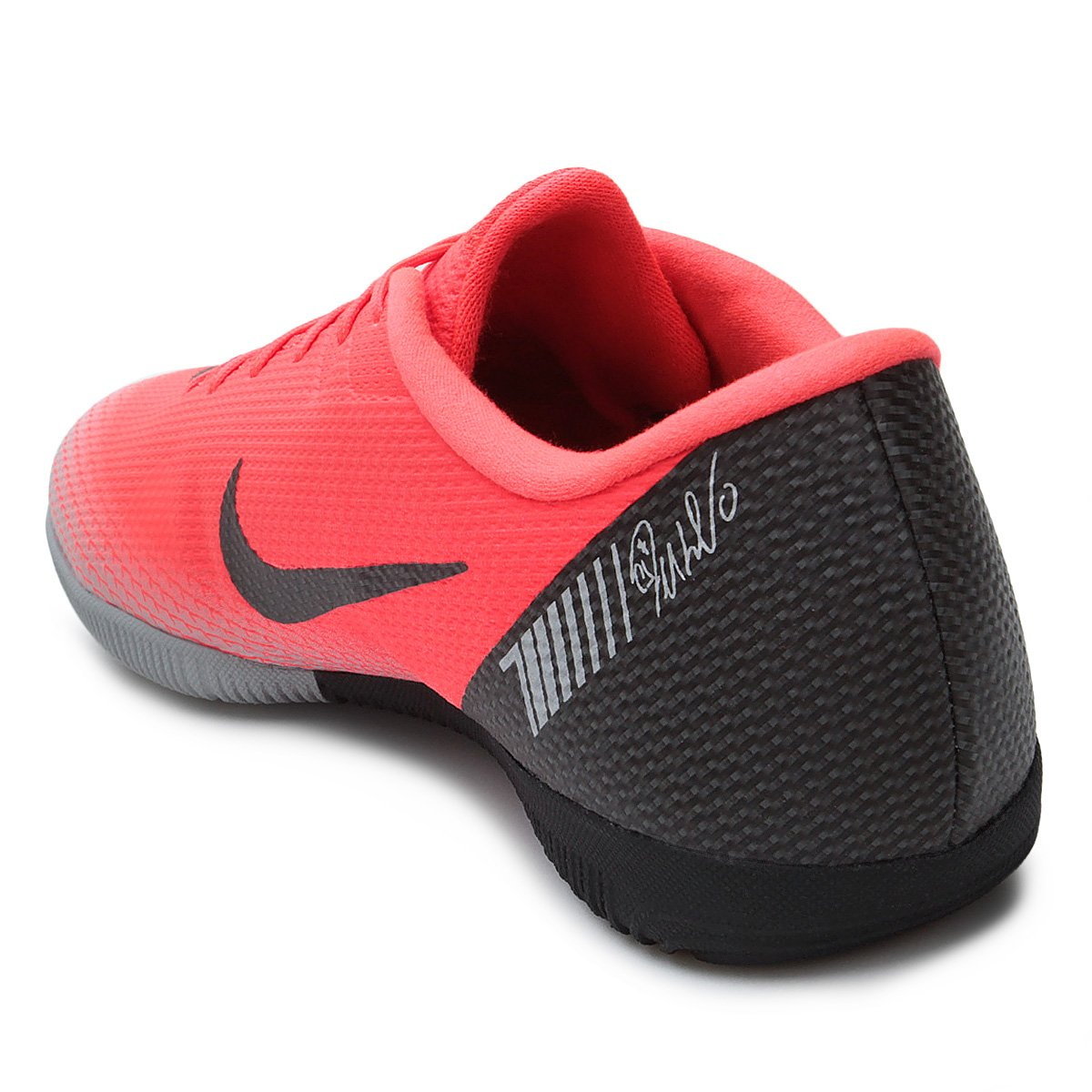 Chuteira Futsal Nike Mercurial Vapor 12 Academy CR7 IC - Vermelho ... 38df3b0a1fc9c