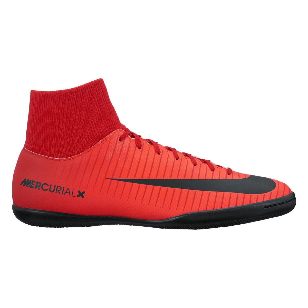 Chuteira Futsal Nike Mercurial Victory 6 DF IC - Vermelho e Preto ... 7e4924500ffb7
