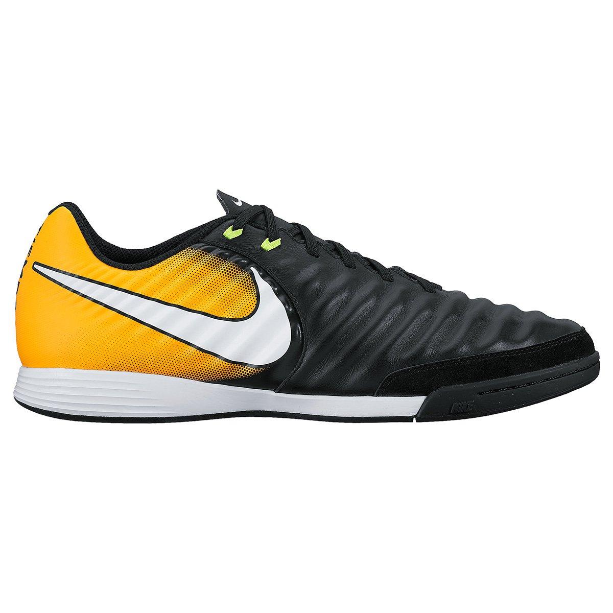 83bde8c582 Chuteira Futsal Nike Tiempo Ligera 4 IC - Preto e Laranja