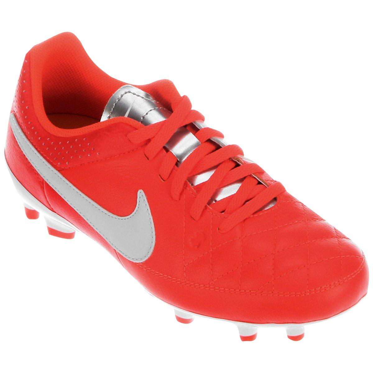 9747fed3d0 Chuteira Nike Tiempo Gênio Leather FG Campo Infantil - Compre Agora ...