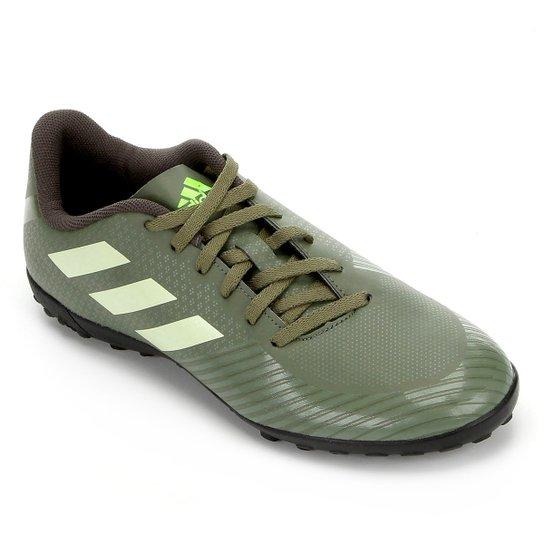 Chuteira Society Adidas Artilheira III TF - Verde+Preto