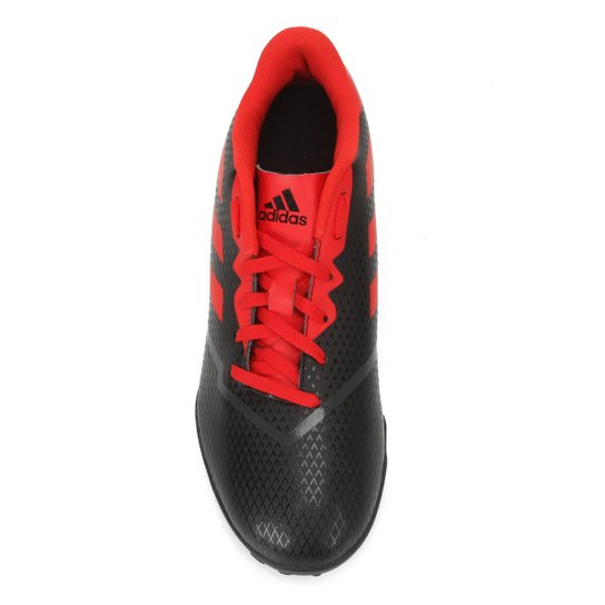 Chuteira Society Adidas Artilheira IV TF - Preto+Vermelho