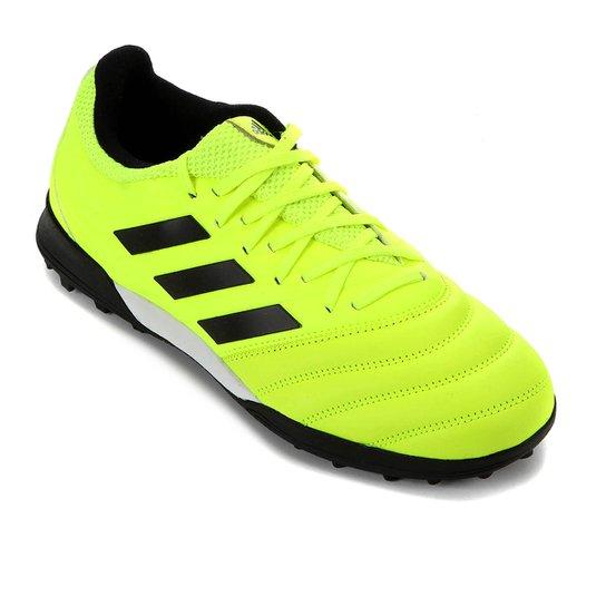 Chuteira Society Adidas Copa 19 3 TF - Verde Limão+Preto