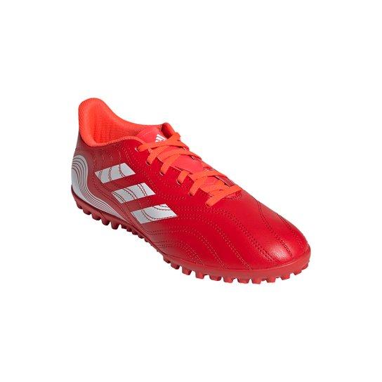Chuteira Society Adidas Copa Sense 4 - Vermelho+Branco