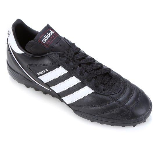 Chuteira Society Adidas Kaiser 5 Team - Preto+Branco