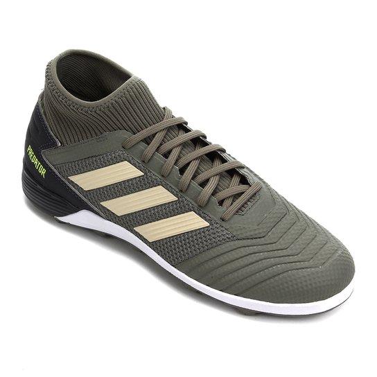 Chuteira Society Adidas Predator 19 3 TF - Verde
