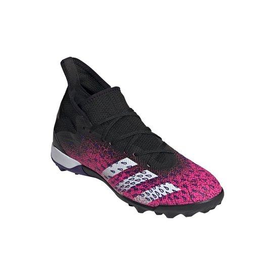 Chuteira Society Adidas Predator Freak 3 - Preto+Branco