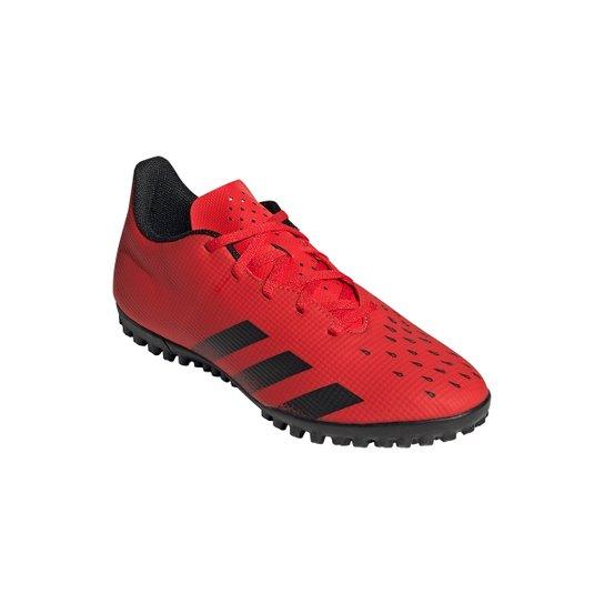 Chuteira Society Adidas Predator Freak 4 - Vermelho+Preto