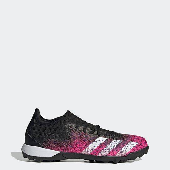 Chuteira Society Adidas Predator Freak Low 3 - Preto+Branco