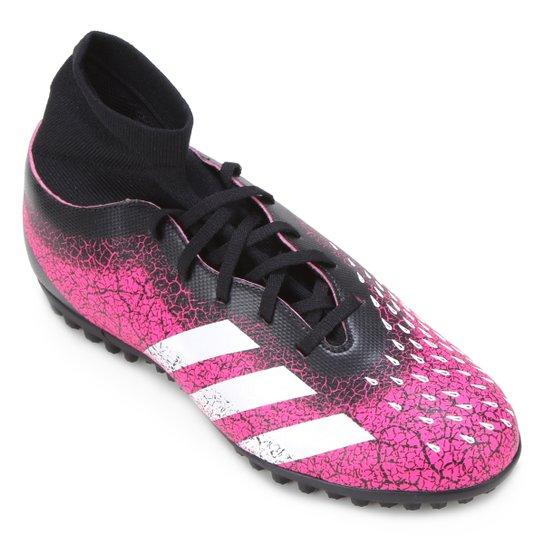 Chuteira Society Adidas Predator Freak S 4 - Rosa+Branco