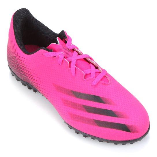 Chuteira Society Adidas X Ghosted 20 4 - Rosa+Preto