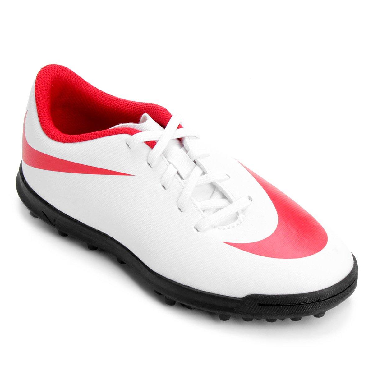 ef9b480d1058f Chuteira Society Infantil Nike Bravata 2 TF - Branco e Vermelho - Compre  Agora
