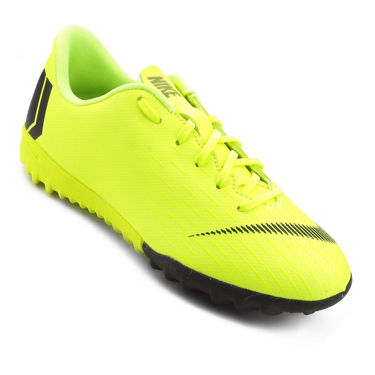 86d6d9dc1b Chuteira Society Infantil Nike Mercurial Vapor 12 Academy GS TF - Amarelo e  Preto