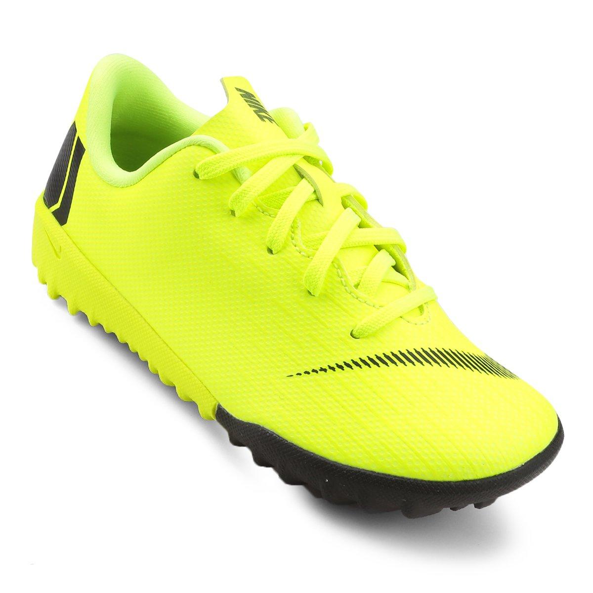 Chuteira Society Infantil Nike Mercurial Vapor 12 Academy - Amarelo ... cd6049b8fc5a7