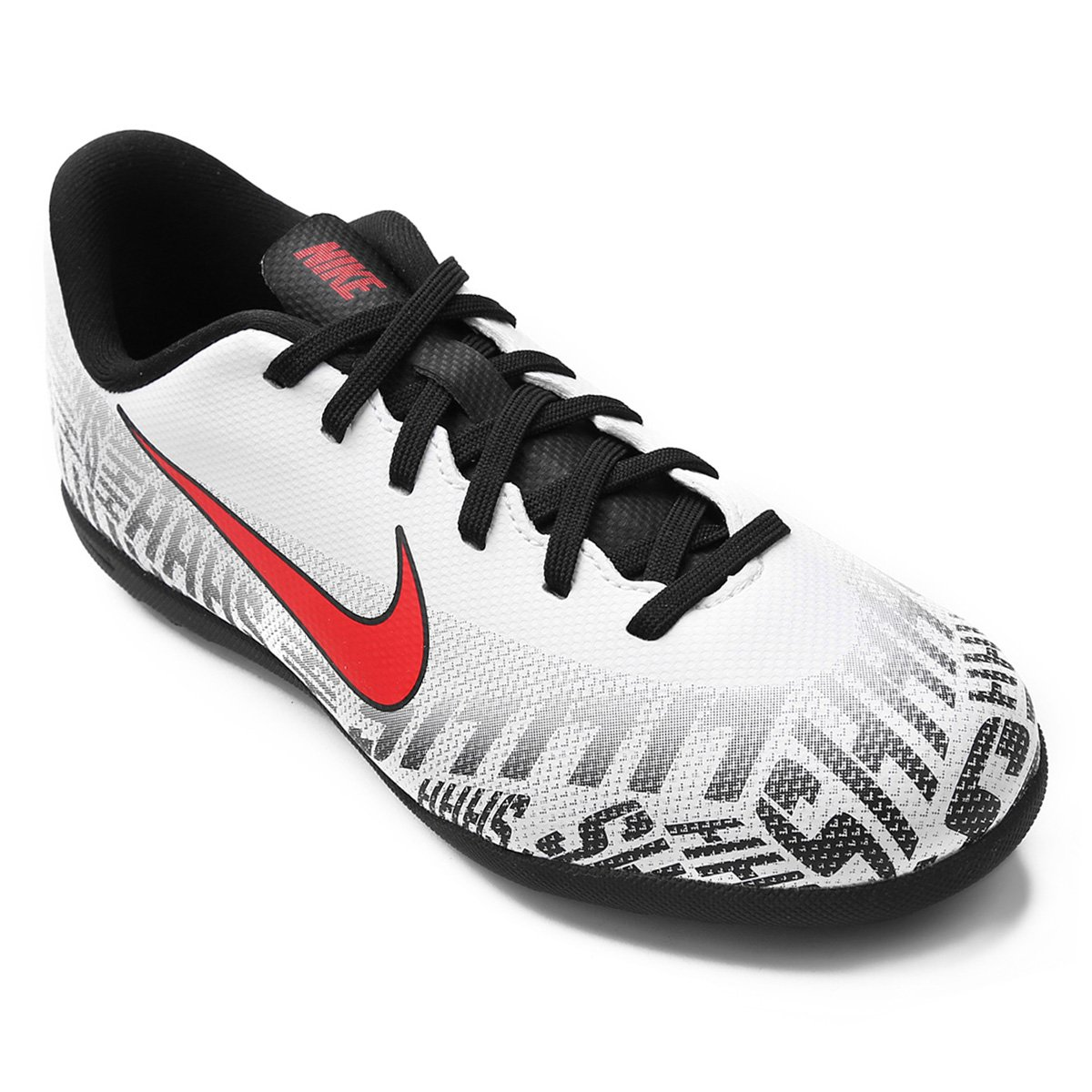 53d64db826 Chuteira Society Infantil Nike Mercurial Vapor 12 Club Gs Neymar Jr TF -  Branco e Vermelho
