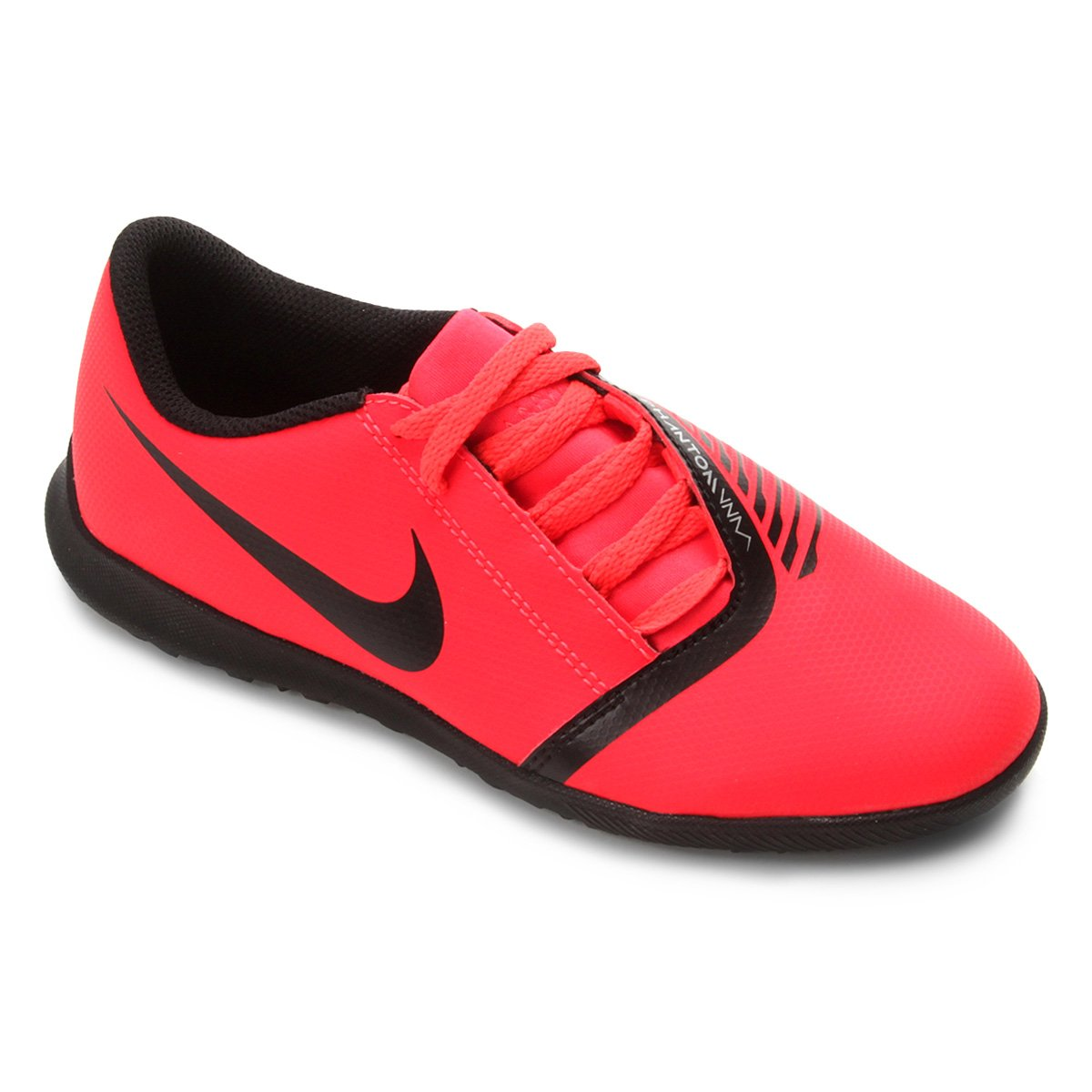 Chuteira Society Infantil Nike Phantom Venom Club TF - Vermelho e ... 3324ea72a2d74