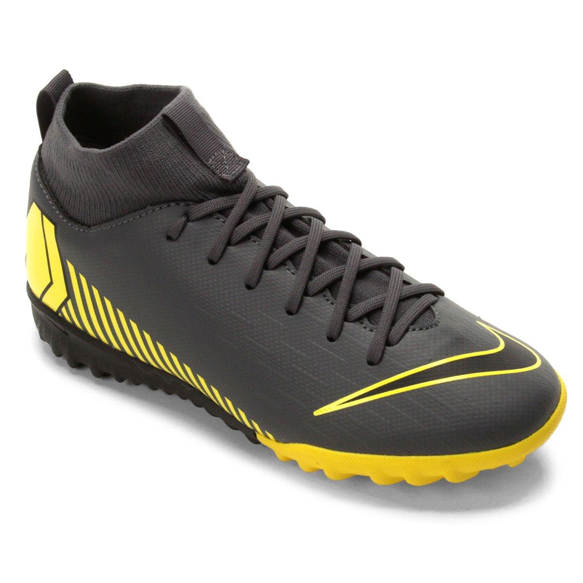 604ce4886a Chuteira Society Infantil Nike Superfly 6 Academy Gs TF - Cinza ...