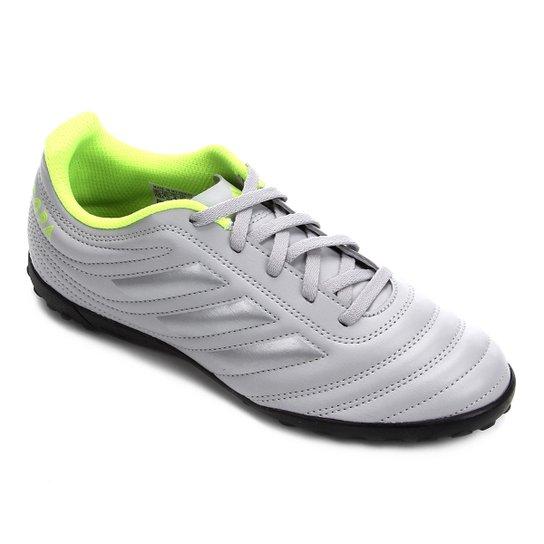 Chuteira Society Juvenil Adidas Copa 20 4 TF - Cinza