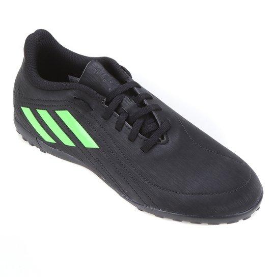 Chuteira Society Juvenil Adidas Deportivo - Preto+verde