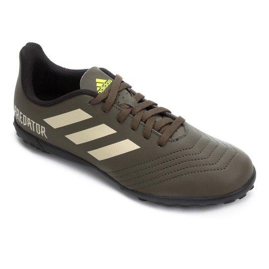 Chuteira Society Juvenil Adidas Predator 19 4 TF - Verde