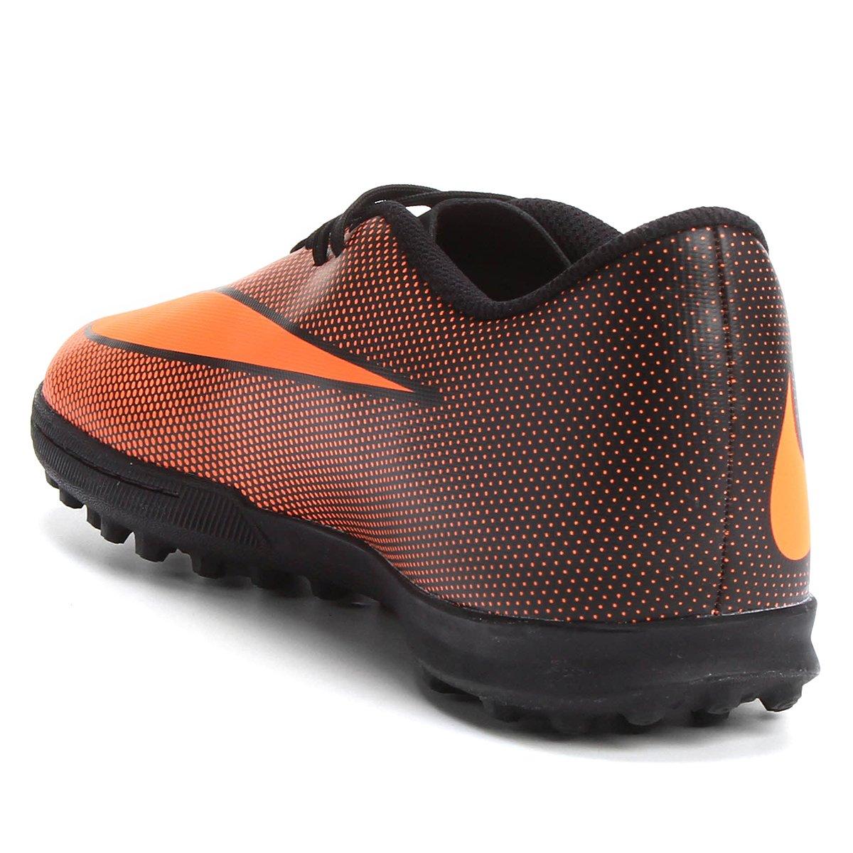 Chuteira Society Nike Bravata 2 TF Masculina - Laranja e Preto ... 2ce497c26a7cf