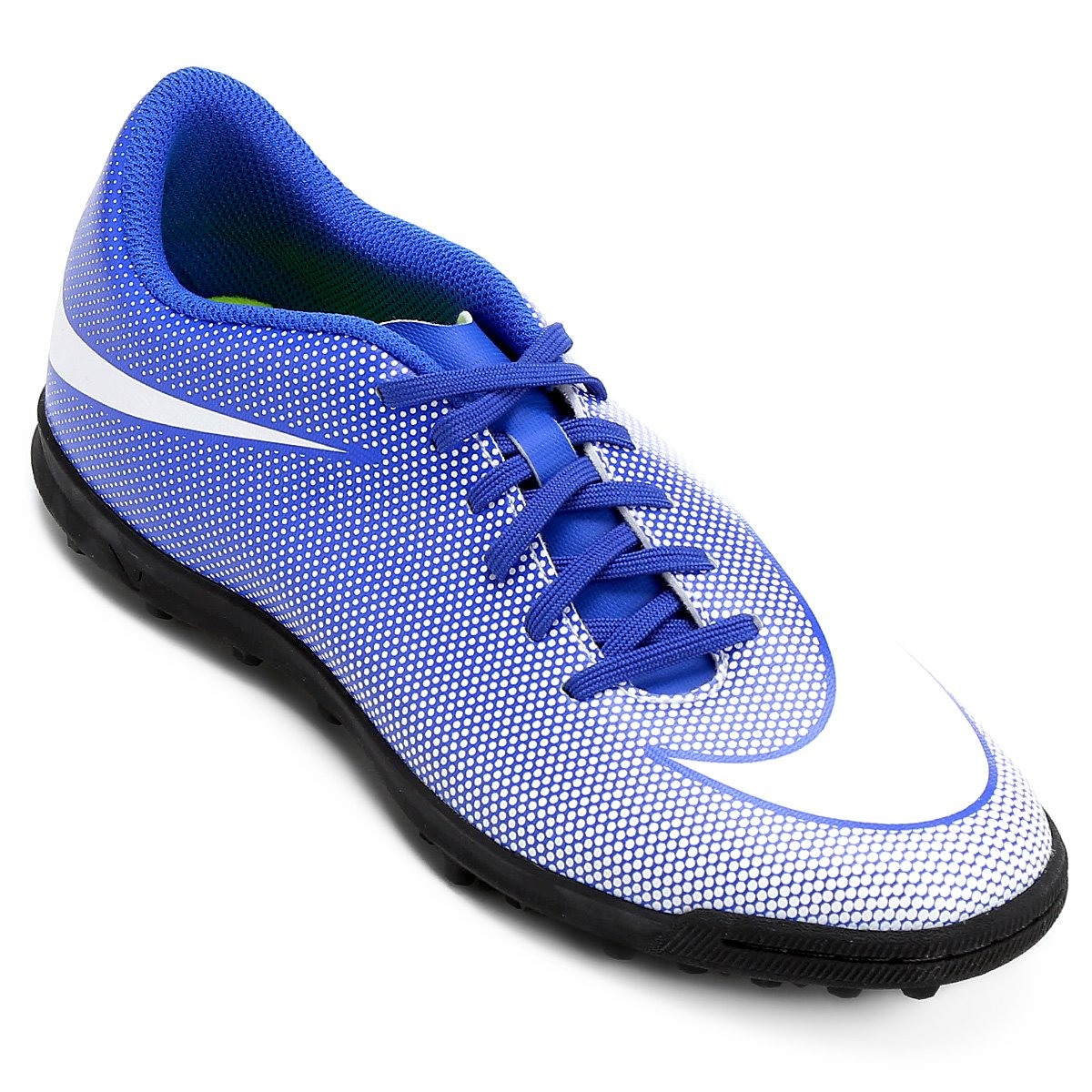 c0e6e13306 Chuteira Society Nike Bravata 2 TF - Azul e Branco