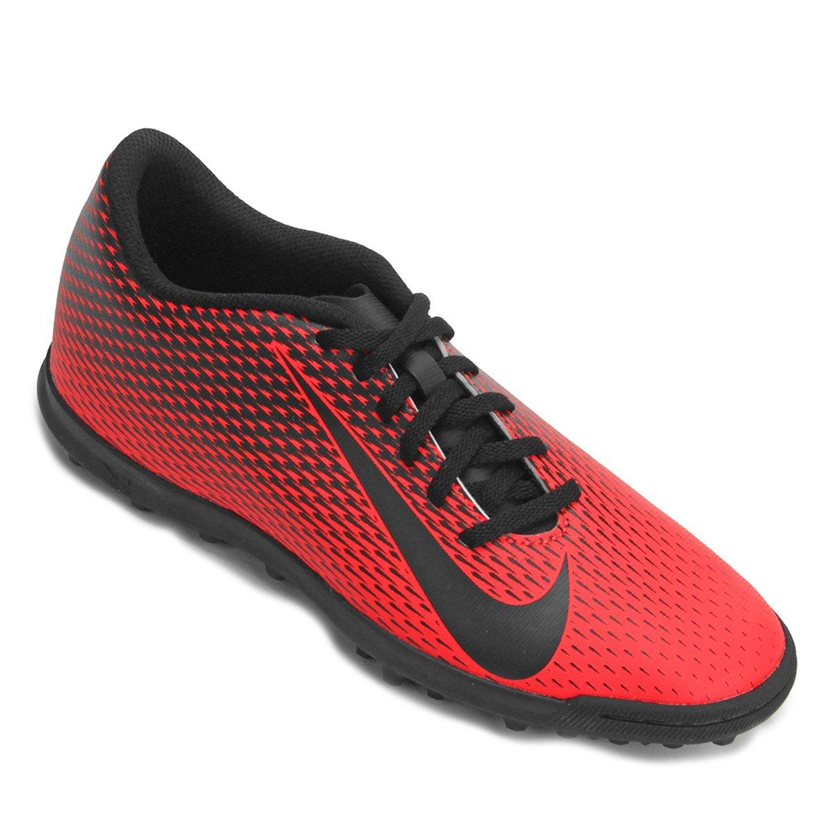 5107fc8247d30 Chuteira Society Nike Bravata 2 TF - Vermelho e Preto - Compre Agora ...