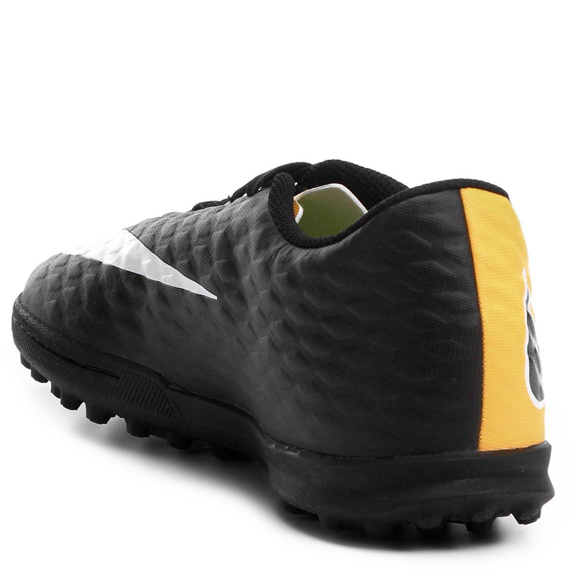 abe7aa9d6f Chuteira Society Nike Hypervenom Phade 3 - Laranja e Preto - Compre ...