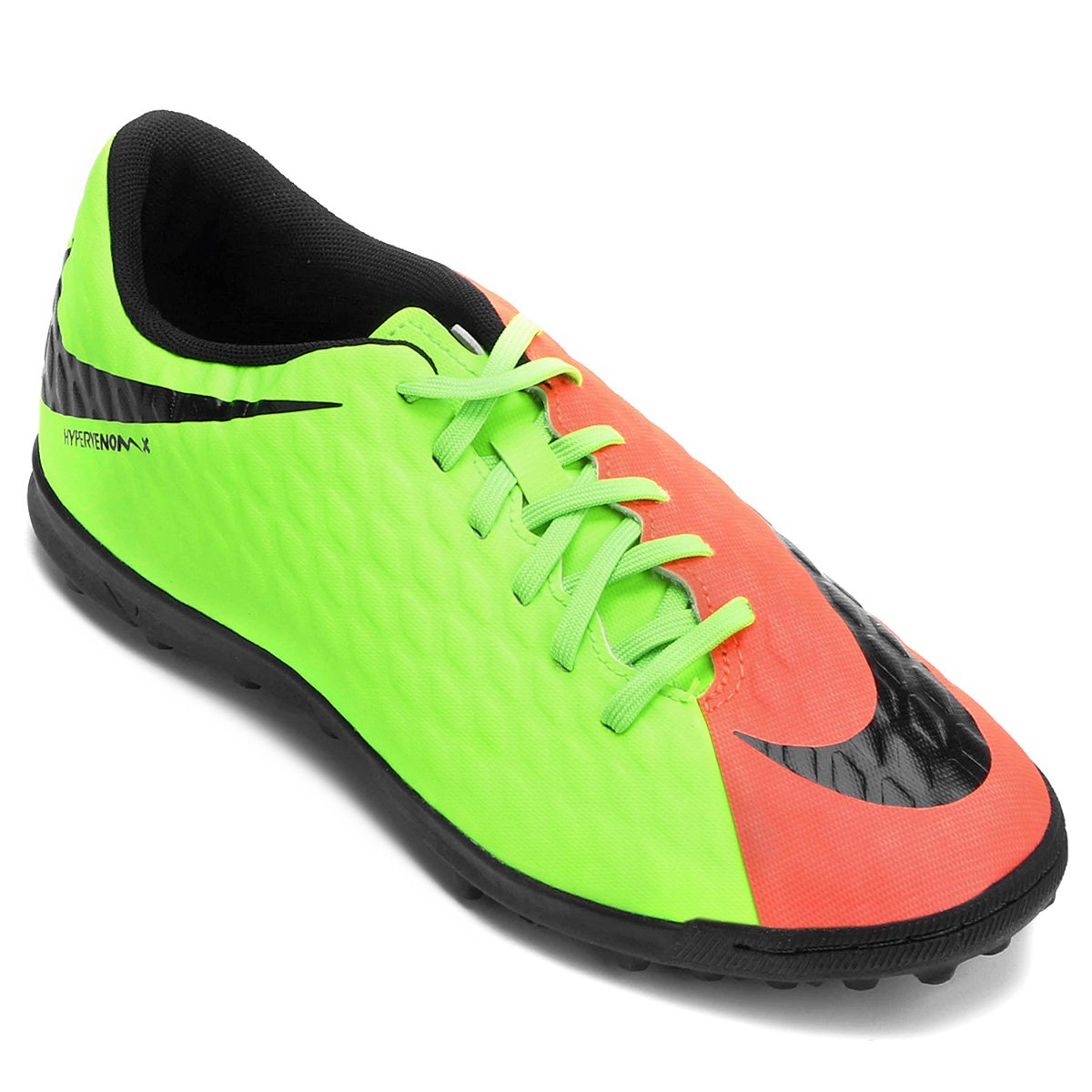 Chuteira Society Nike Hypervenom Phade 3 - Laranja e Verde - Compre ... 04d0b1b5e9e2d
