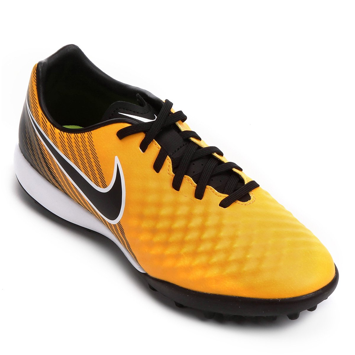 Chuteira Society Nike Magista Onda II TF - Laranja e Preto - Compre ... a1220393b7c1c