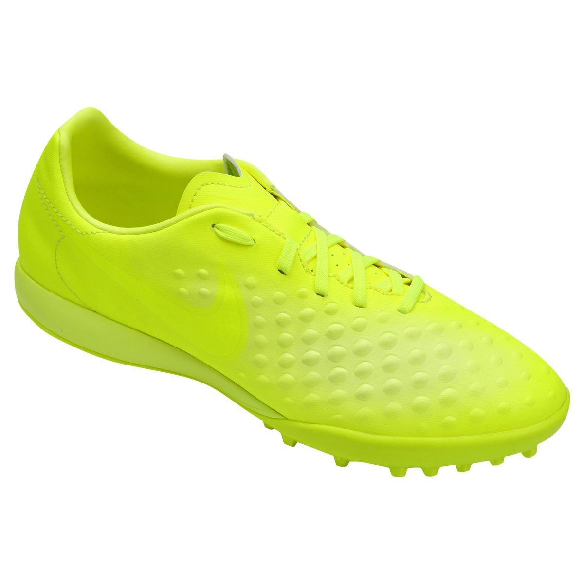 Chuteira Society Nike Magista Onda II TF - Verde Limão - Compre ... 830e17d98664a