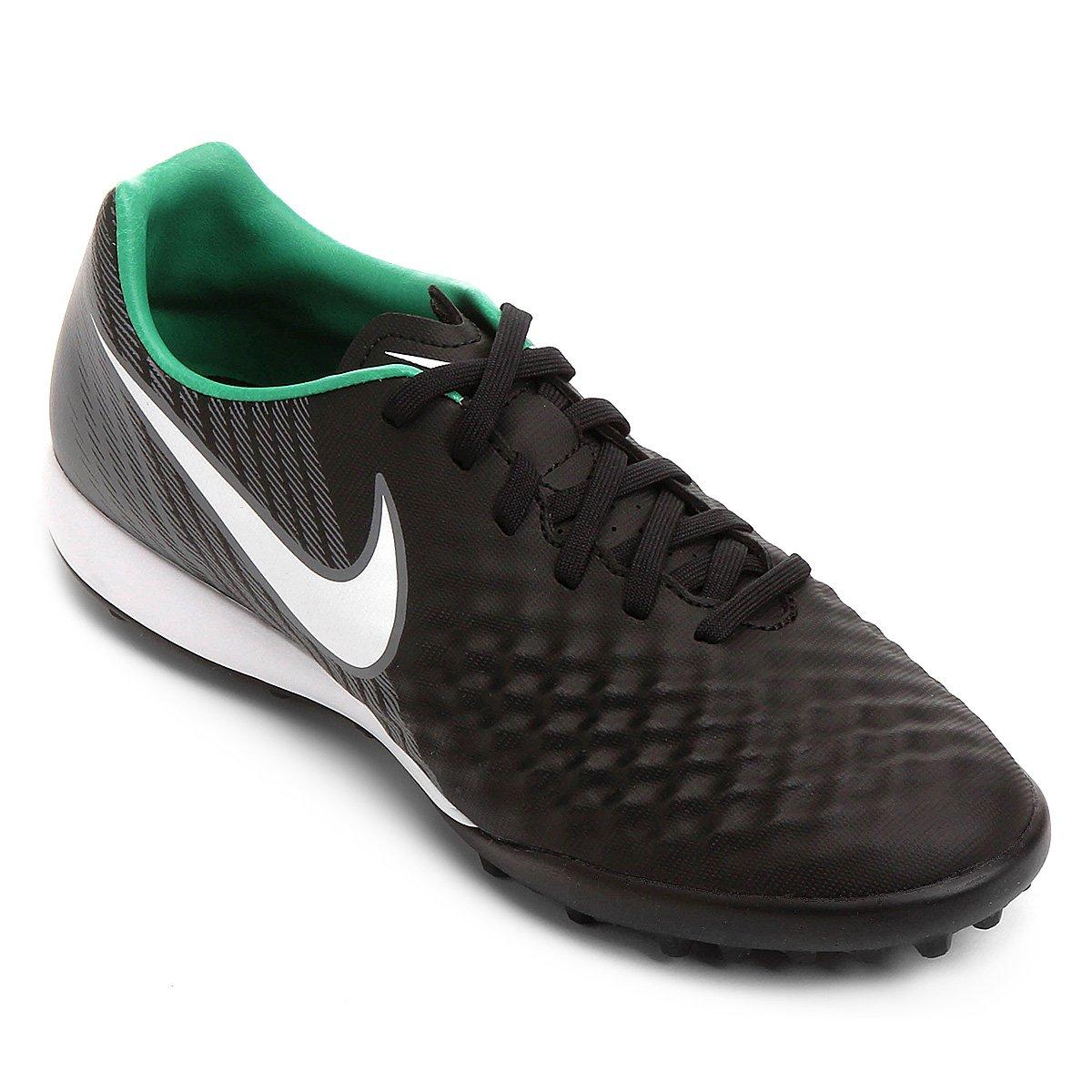 1c102e6e50e Chuteira Society Nike Magista Onda II TF - Preto e verde - Compre Agora