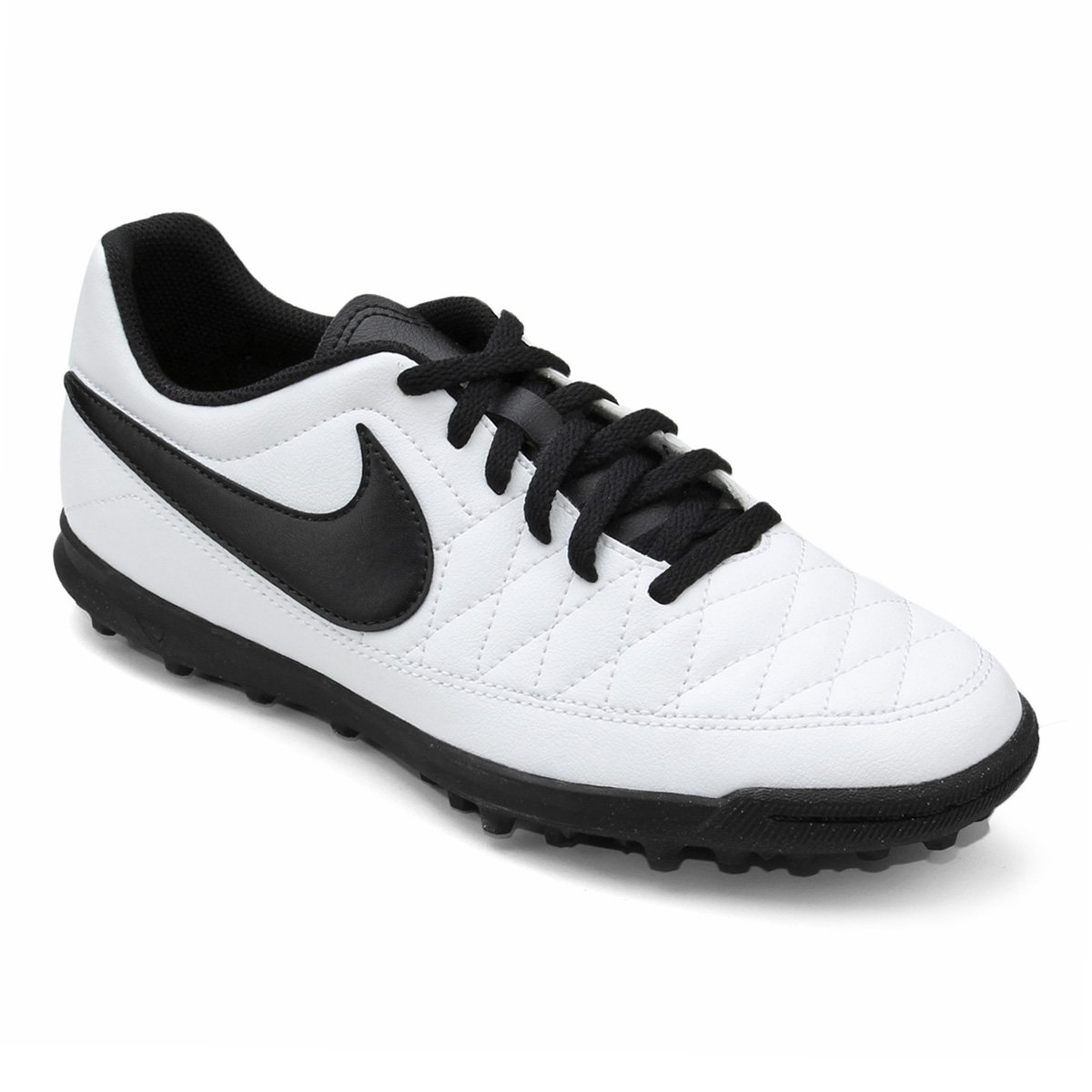 6345d22c5f9da Chuteira Society Nike Majestry TF - Branco e Preto - Compre Agora ...