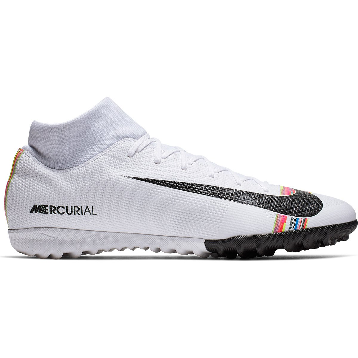 72c5e7f987 Chuteira Society Nike Mercurial Superfly 6 Academy CR7 TF - Branco e Preto  - Compre Agora